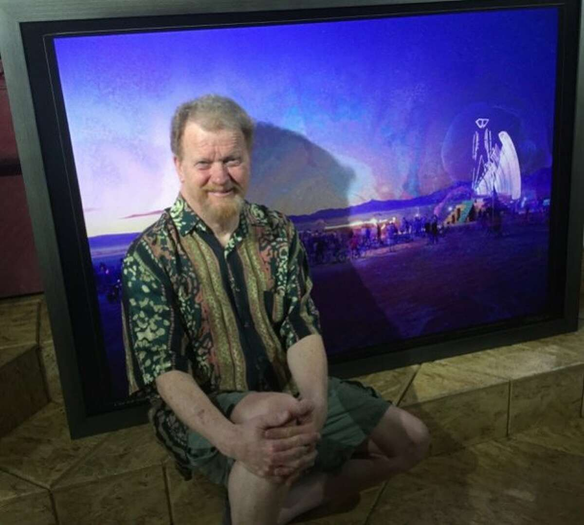 West Marin photographer William Binzen, whose work from Burning Man and Desert Siteworks is currently on view at Smith Anderson North Gallery.