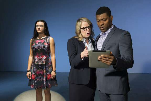 Maddie (Jessica Lynn Carroll), the daughter of a presidential candidate,is caught in the spotlight of journalists Stephanie (Tasha Lawrence)and Will (Richard Prioleau).