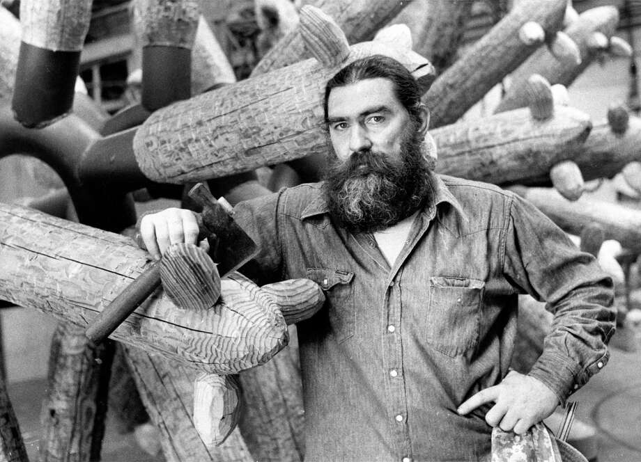 Inspired by the natural landscape of the Southwest, Surls took massive 