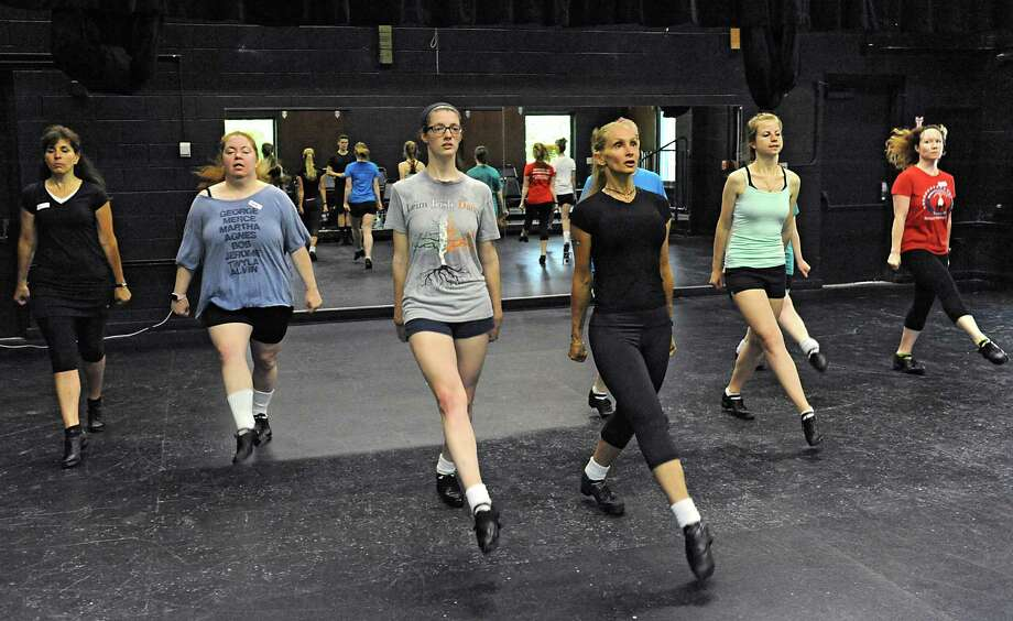 Adult students take lessons in Irish dance during Camp Rince Ceol at Union College on Wednesday, July 6, 2016 in Schenectady, N.Y. (Lori Van Buren / Times Union) Photo: Lori Van Buren / 20037211A