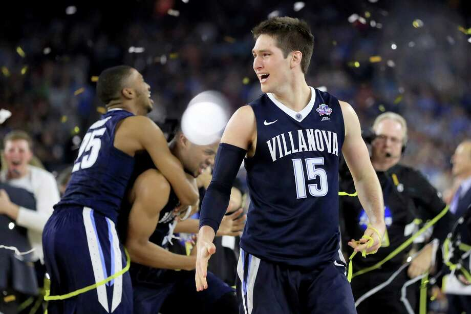 Ryan Arcidiacono of the Villanova Wildcats celebrates defeating the North Carolina Tar Heels 77-74 to win the 2016 NCAA Men's Final Four national championship game at NRG Stadium on April 4, 2016 in Houston. Photo: Ronald Martinez /Getty Images / 2016 Getty Images