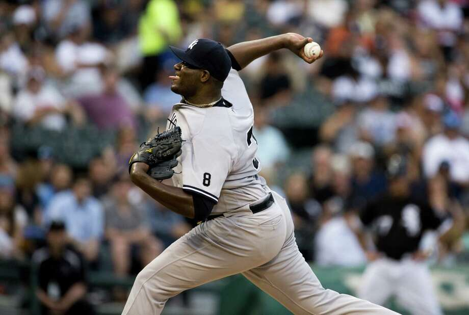CHICAGO, IL - JULY 06: Michael Pineda #35 of the New York Yankees throws against the Chicago White Sox in the first inning at U.S. Cellular Field on July 6, 2016 in Chicago, Illinois.  (Photo by Tasos Katopodis/Getty Images) ORG XMIT: 607681235 Photo: Tasos Katopodis / 2016 Getty Images