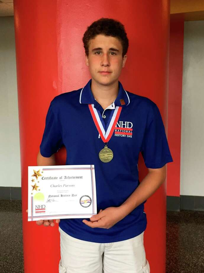 Photo provided Charlie Parsons finished fifth in the nation in the Senior Individual Website division of the National History Day Contest.