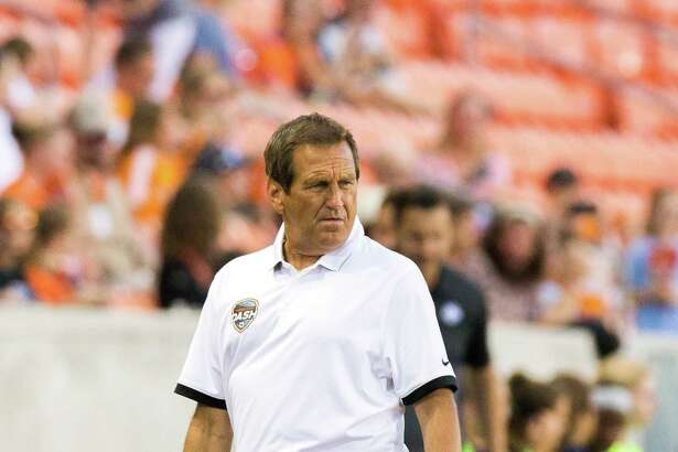 Houston Dash head coach Randy Waldrum on the field against the FC Kansas City during the second half of action between the Houston Dash and the FC Kansas City during a soccer game at BBVA Compass, Sunday, June 19, 2016, in Houston. FC Kansas City defeated Houston Dash 1-0. ( Juan DeLeon / for the Houston Chronicle )