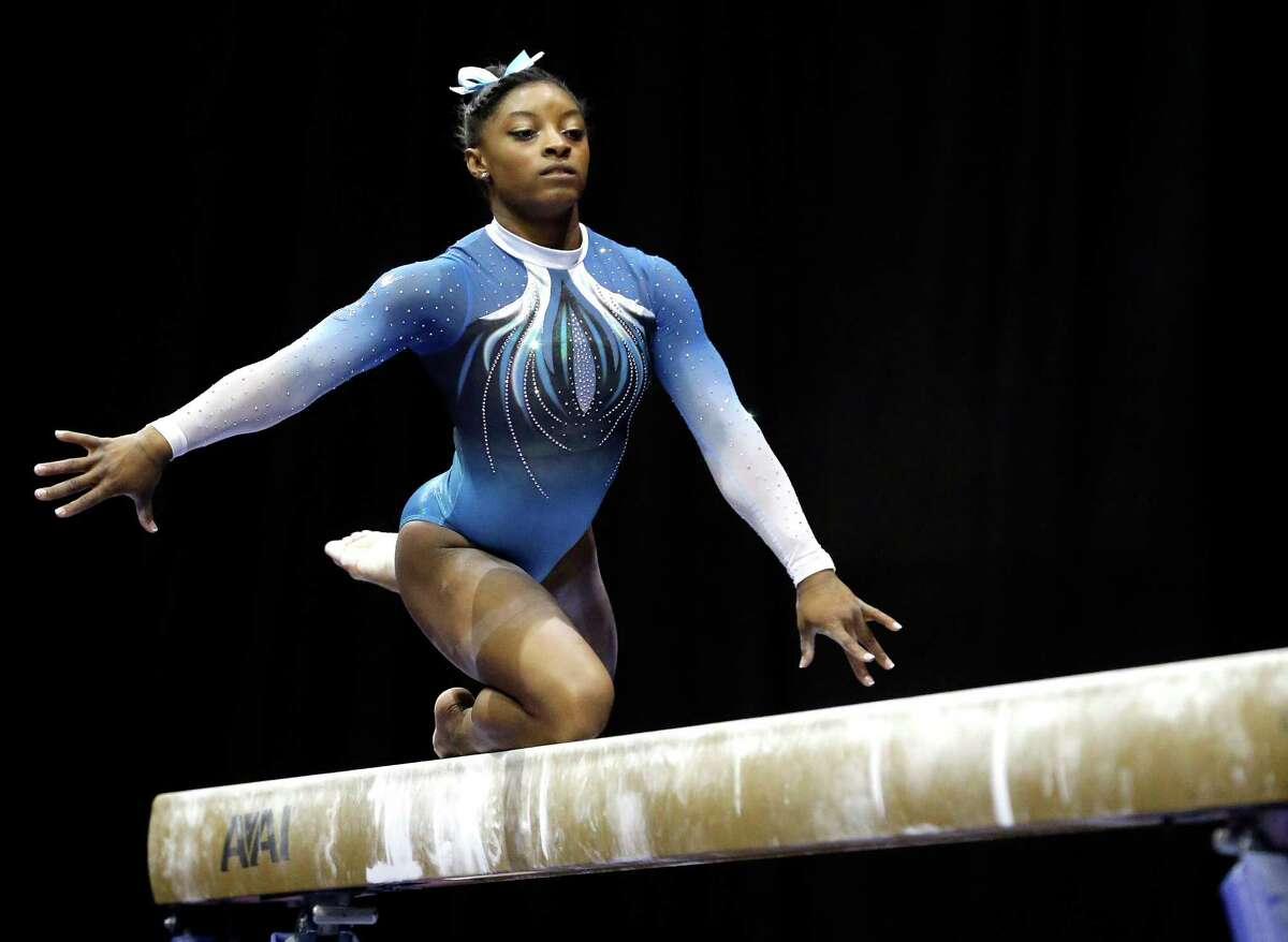 Sports: Simone Biles U.S. Gymnast and Rio Olympian The star athlete has trained hard to get where she is. Biles may not have been born in the Bayou City, but she trains at the World Champions Centre in Spring. Biles won the title of Women's Individual All-Around gymnast and the U.S. team is bringing home the gold for Women's Team All-Around.