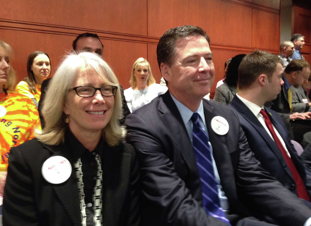 In March, 2016, FBI Director James Comey appeared in the state Capitol complex in Hartford to support his wife, Patrice Failor, who testified before a legislative committee on the need for greater support of neglected children.