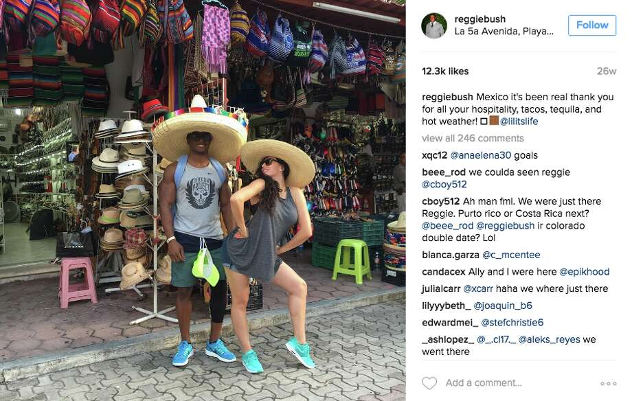 Running back Reggie Bush and wife Lilit Avagyan headed to Mexico for some R&R. Photo: Screenshot