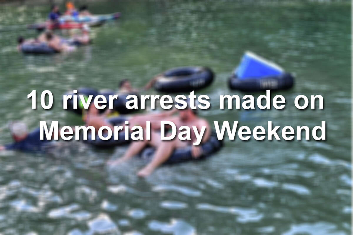 Click ahead to see the mugshots of 10 people arrested on New Braunfels rivers Memorial Day weekend, 2016.
