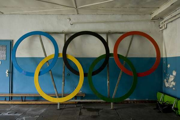 Deserted houses for the athletes in the former Olympic Village (Olympic Games 1936 in Berlin).