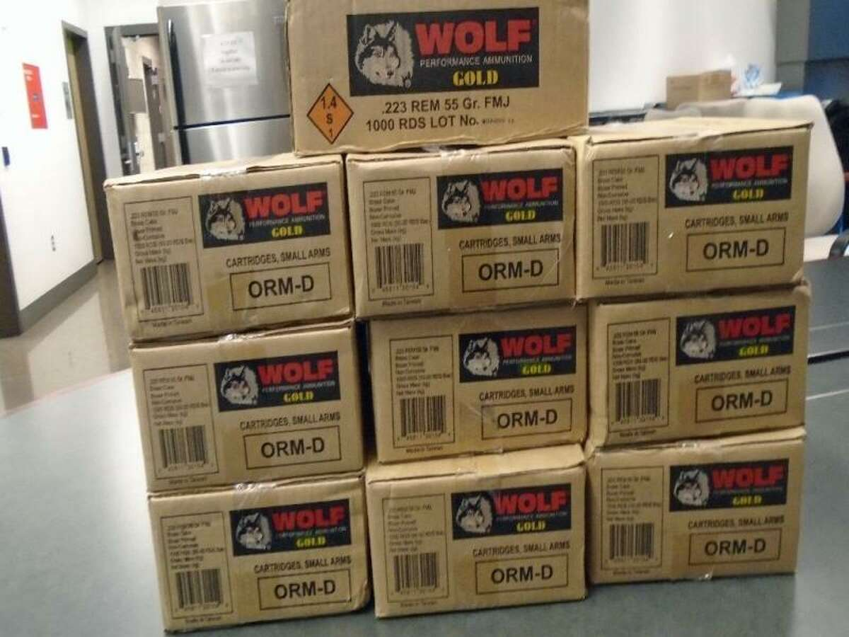 U.S. Customs and Border Protection stopped a 22-year-old woman from entering Mexico at the Port of Nogales in Arizona with 10,000 rounds of ammunition in her trunk on July 4, 2016.