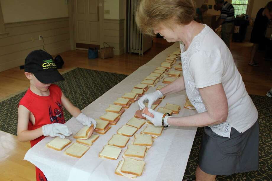 To help keep children in need from starving during long summer days, the Wilton Congregational Church (WCC) hosted its 6th annual Sandwich Drive. Photo: Pat Tomlinson / Hearst Connecticut Media
