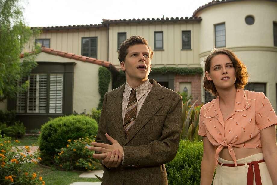 """Jesse Eisenberg and Kristen Stewart in Woody Allen's""""Café Society."""" Photo: Sabrina Lantos"""