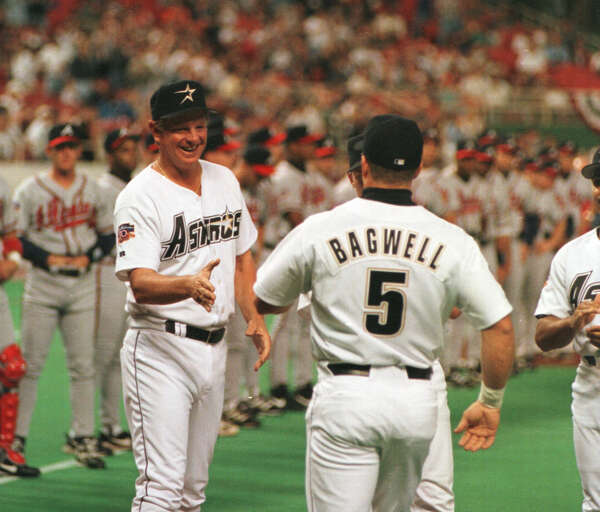 8bb2f3ac5 The Astros  open star uniforms were worn when they won three consecutive  National League Central Division crowns from 1997-99.