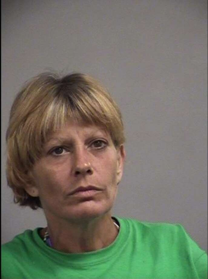 Christina Blevins, 48, is accused of stabbing man during an incident which began after she hit him with a burrito. She was arrested by Louisville Metro Police in Kentucky July 5. The 48-year-old is currently being held at Jefferson County Jail on a $5,000 bond, according to jail records. She was charged with assault, a second degree felony. Photo: Courtesy/Metro Corrections