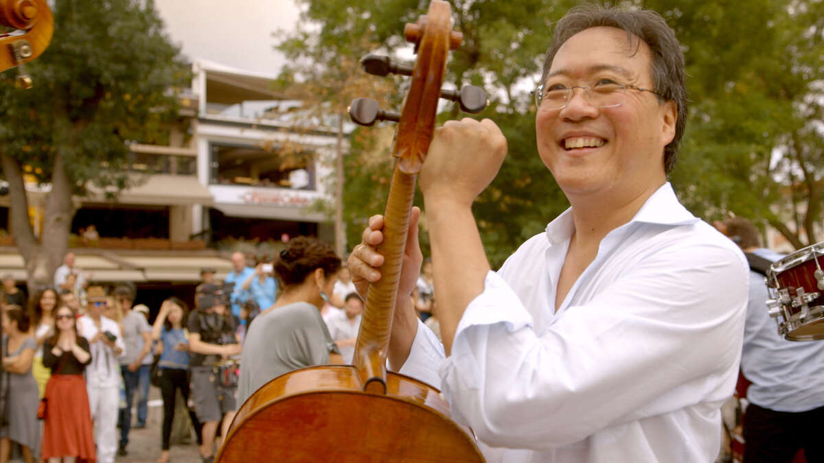 Yo-Yo Ma, famed cellist and founder of the Silk Road Ensemble, in