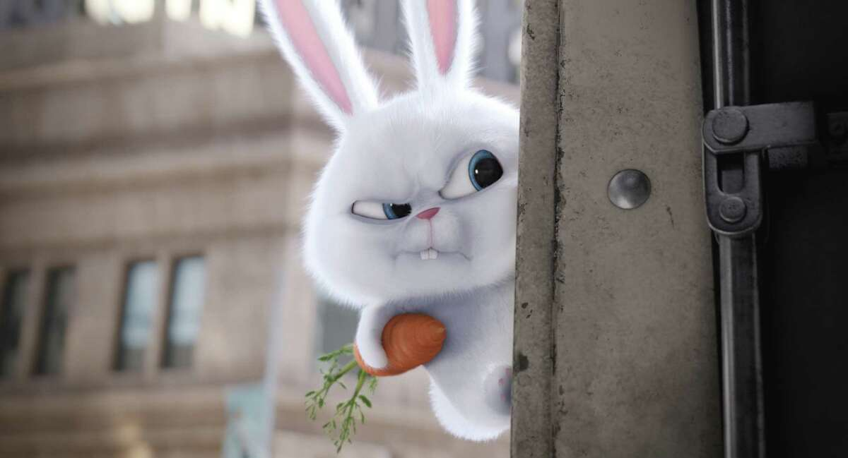 In this image released by Universal Pictures, Snowball, voiced by Kevin Hart, appears in a scene from,