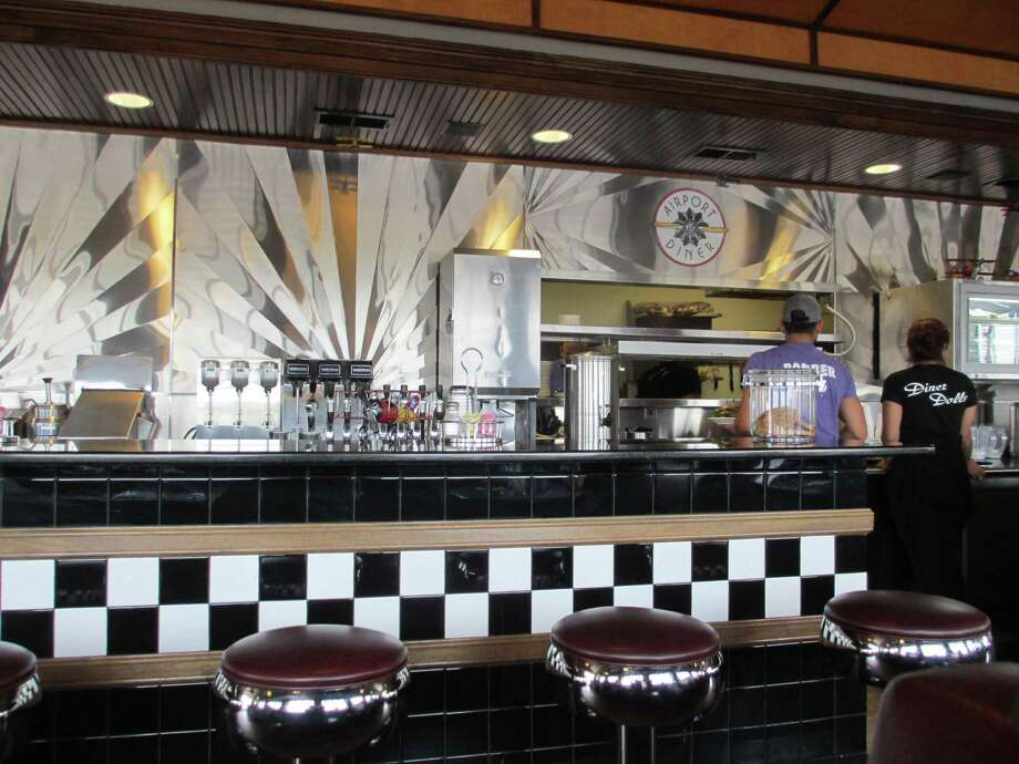 The nostalgic decor in the Airport Diner at the Gillespie County Airport evokes another era. Photo: Terry Scott Bertling / San Antonio Express-News