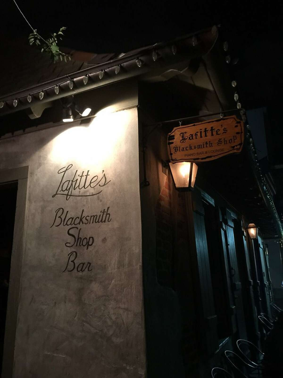 Lafitte's Blacksmith Shop & Bar 941 Bourbon Street, New Orleans, LA 70116 This bar looks especially spooky at night. Yelp/Melissa E.