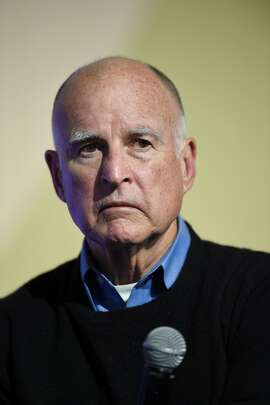 (FILES) This file photo taken on December 05, 2015 shows Governor of California Jerry Brown the COP21 United Nations conference on climate change in Le Bourget, France. California's governor approved a series of gun control measures on July 1, 2016, including new restrictions on assault weapons, in the wake of recent mass shootings across the country that have triggered outrage. Governor Jerry Brown signed into law six bills that were part of a package put before him by state lawmakers, further boosting firearms restrictions in one of the US states with the most stringent gun control laws.  / AFP PHOTO / ERIC FEFERBERGERIC FEFERBERG/AFP/Getty Images