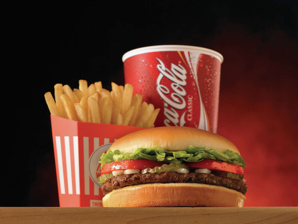 The Single Whatameal: hamburger, fries and drink