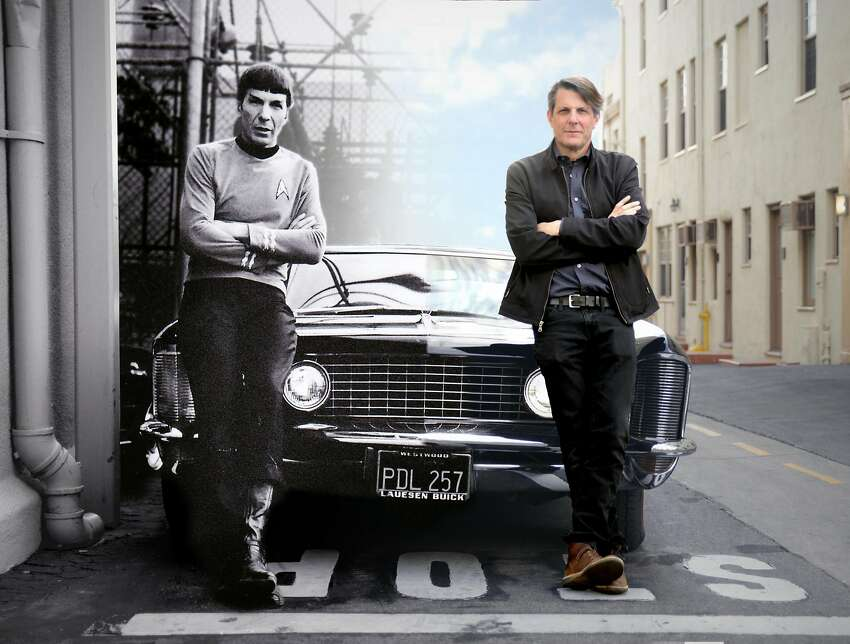 Adam Nimoy (right) with his father, Leonard Nimoy, in a Photoshopped still from