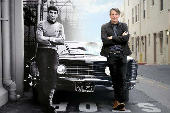 "Adam Nimoy (right) with his father Leonard Nimoy in a photo-shopped photo from the documentary ""For the Love of Spock"" (2016)."