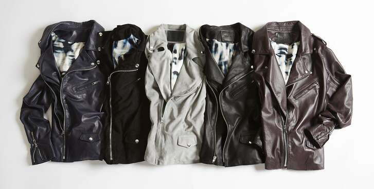 Cat Wu�s new line of thin moto jackets made from Italian dyed lambskin leather with silk linings launches in July at http://www.catwu.com/.  Credit: Cat Wu