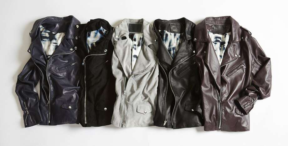 Cat Wu's new line of thin moto jackets ($1,150) made from Italian dyed lambskin leather with silk linings launches in July at http://www.catwu.com. Photo: Cat Wu