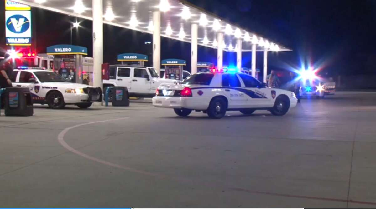 A screenshot of footage at a Valero Gas Station off of Boudreaux Road in Tomball, Texas. On July 8, 2016, a gunman shot a teenager in the head at the location following an argument.