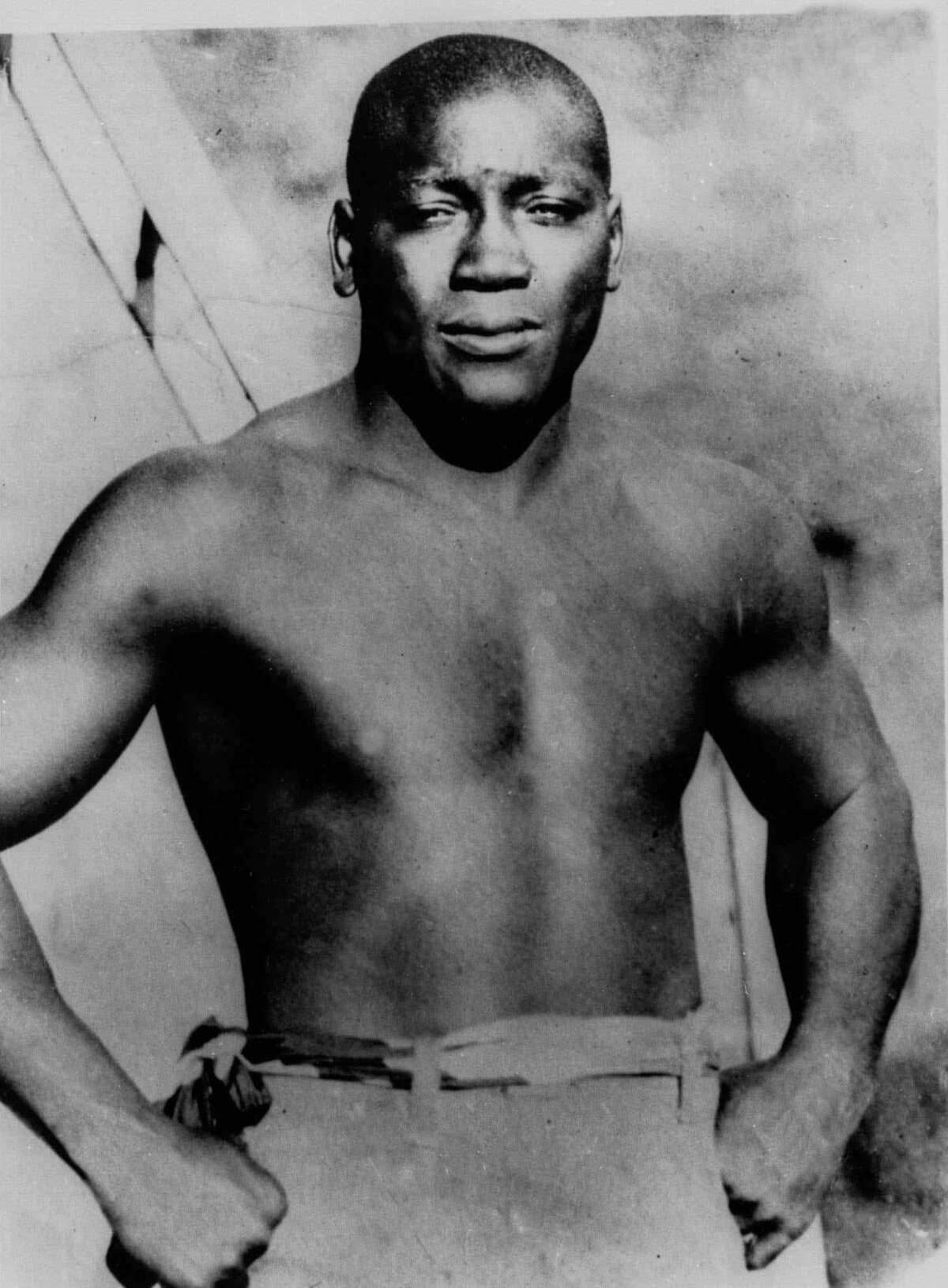 Jack Johnson, born in Galveston,Texas, who became the first African-American to win the heavyweight boxing title, appears in this undated file photo. (AP Photo/file)