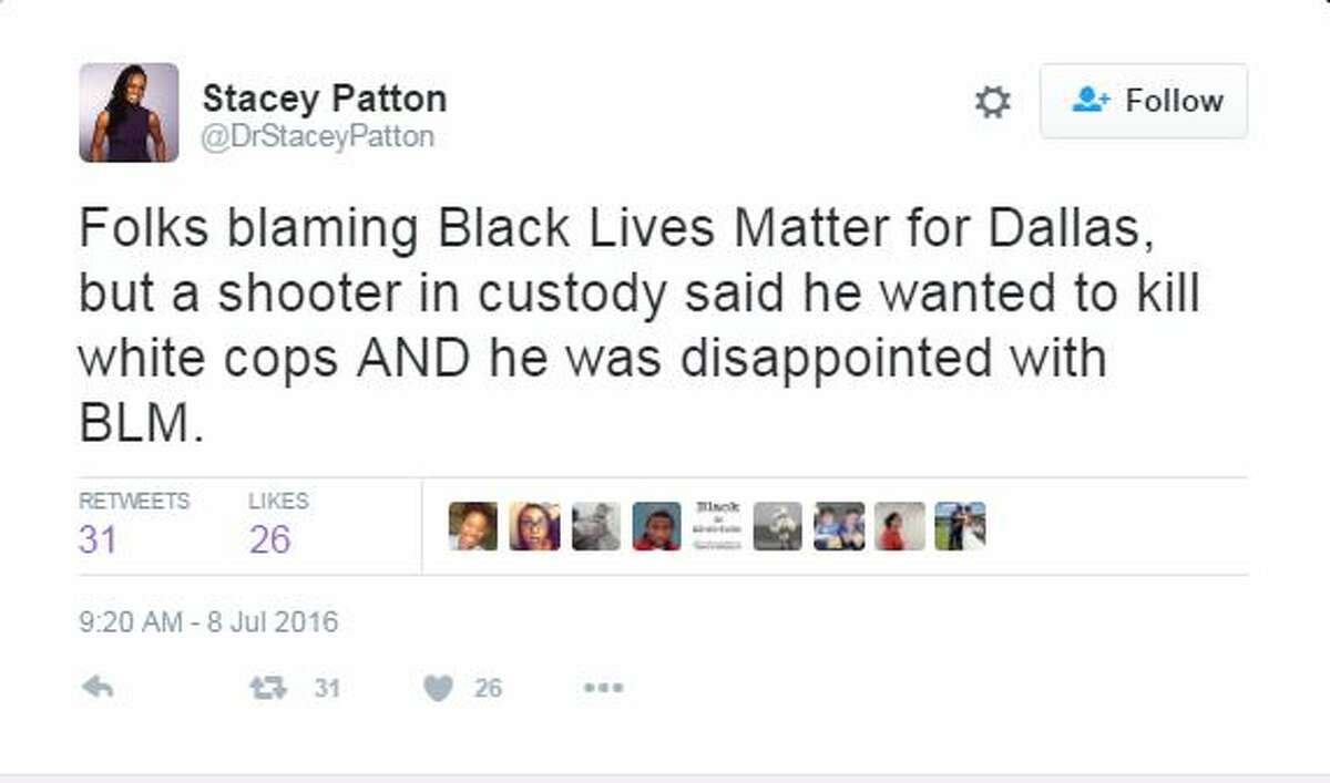 Black Lives Matter supporters are denouncing the sniper who killed five officers at a Dallas rally Thursday night.