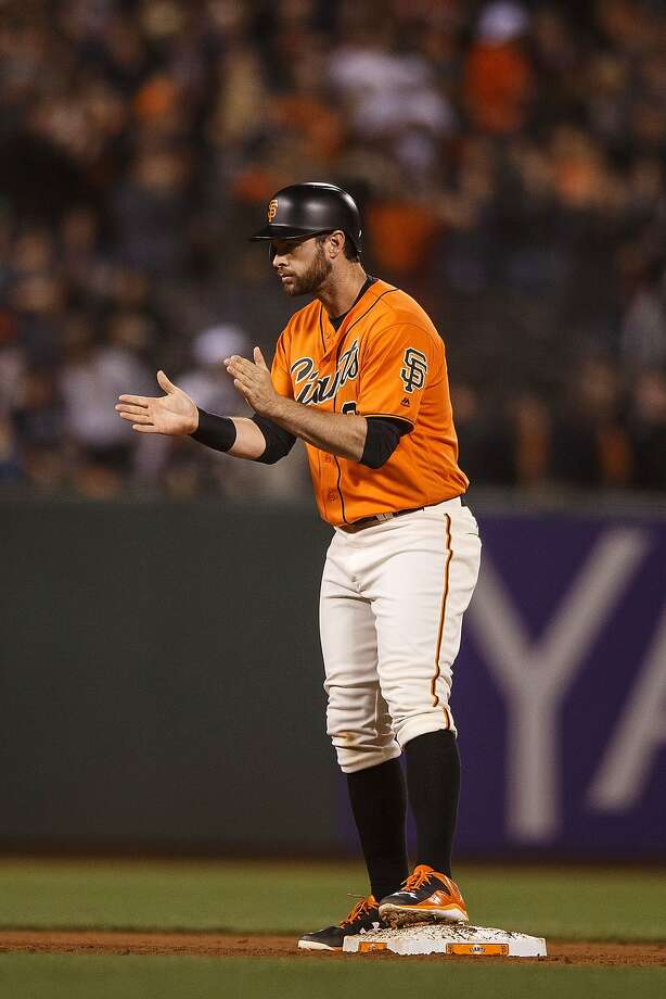 Brandon Belt got tremendous support from Giants fans in the online voting. Photo: Jason O. Watson, Getty Images