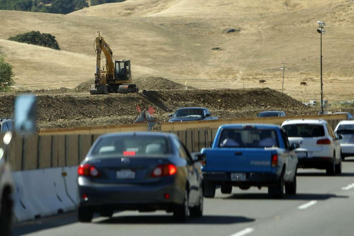 Marin Sonoma Narrows construction project on 101 in Petaluma, Calif., on Thursday, July 7, 2016.