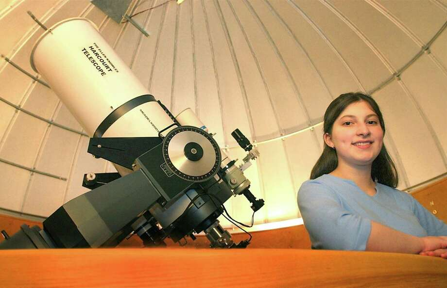 Lisa Glukhovsky, 17, won an international science and engineering fair. Above, at the McCarthy Observatory at New Milford High School where she spends a lot of her time. Photo: File Photo/ Wendy Carlson / File Photo / The News-Times File Photo