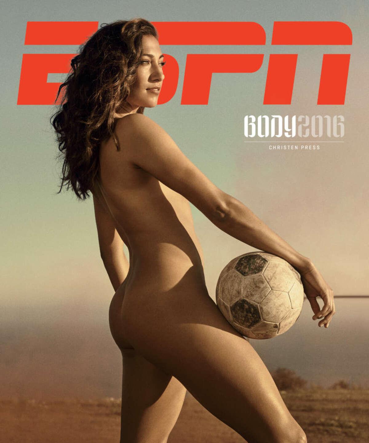 Soccer player Christen Press in the 2016 ESPN Body Issue.