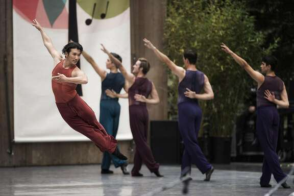 "Hansuke Yamamoto in Wheeldon's ""Rush"" at the San Francisco Ballet's Stern Grove Festival performance last year."