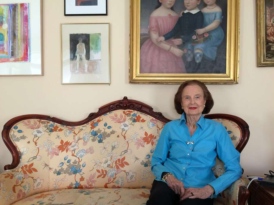 Grace Prien at home last year, interviewed for a story about turning 100 in 2015. She was known for her ladylike demeanor and a glowing complexion, which she attributed to Pond's cold cream. One of her favorite moments in her lengthy career, she said, was meeting Clint Eastwood. Photo: Carolyne Zinko, San Francisco Chronicle