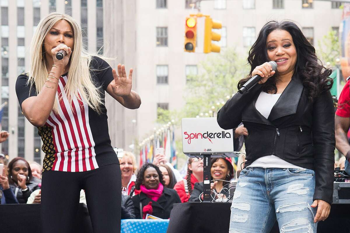 """FILE - In this April 29, 2016 file photo, Cheryl """"Salt"""" James, right, and Sandra """"Pepa"""" Denton of Salt-n-Pepa, perform on NBC's """"Today"""" show in New York. The group will be honored alongside Missy Elliott and Queen Latifah at the VH1 Hip Hop Honors on Monday, July 11. (Photo by Charles Sykes/Invision/AP, File)"""