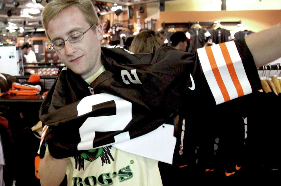 Chances are you can get a Johnny Manziel jersey for much cheaper now than Browns fan Ryan Pfefferle did in May 2014 in Cleveland.Click through the gallery to relive Manziel's highs and lows in football. Photo: Marvin Fong, Associated Press / The Plain Dealer