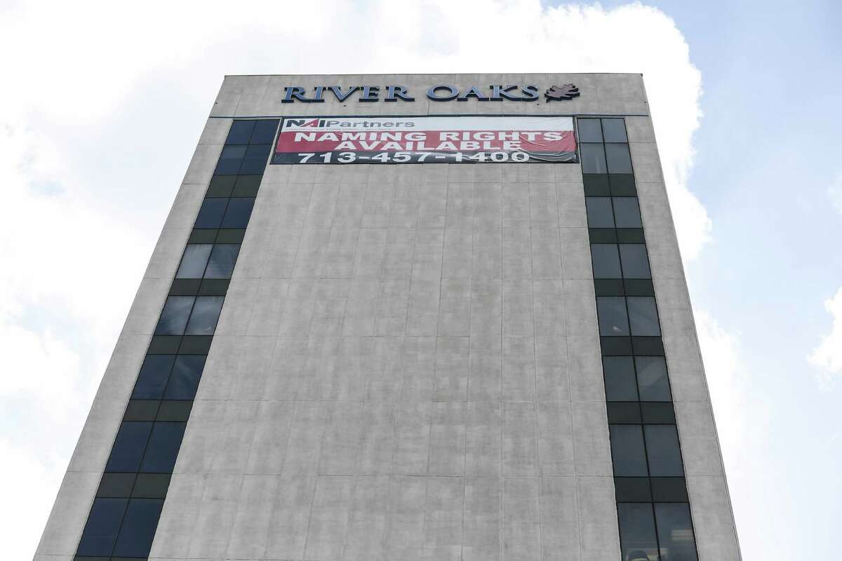 A naming rights sign on 4126 Southwest Freeway in July 2016. At that time NAI Partners was marketing space in the building. ( Elizabeth Conley / Houston Chronicle )