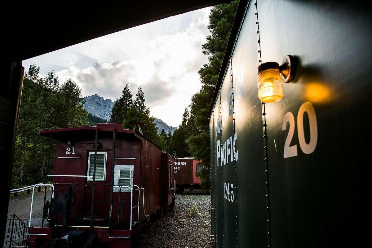 Lodging at Railroad Park Resort in Dunsmuir, California, June 29, 2016.