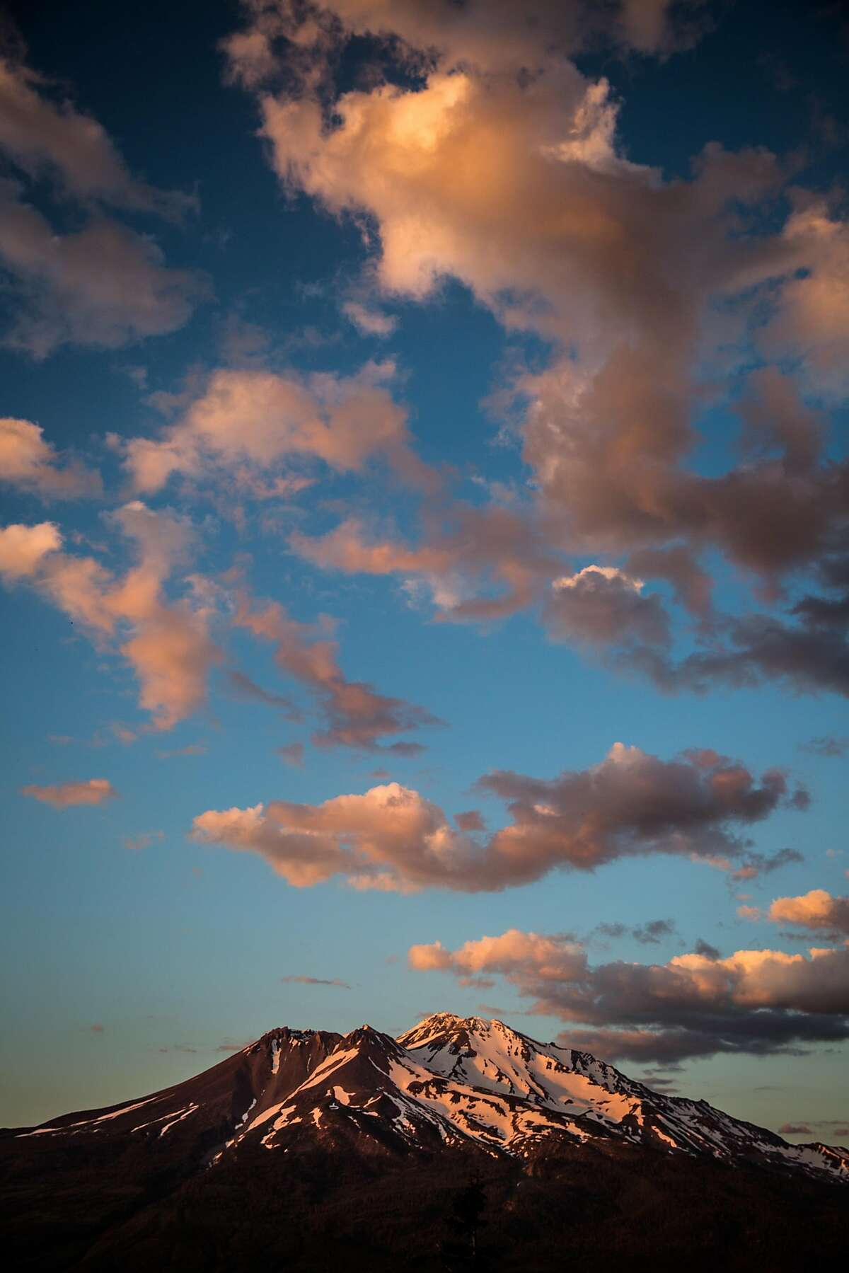 Mt Shasta at sunset, June 29, 2016.