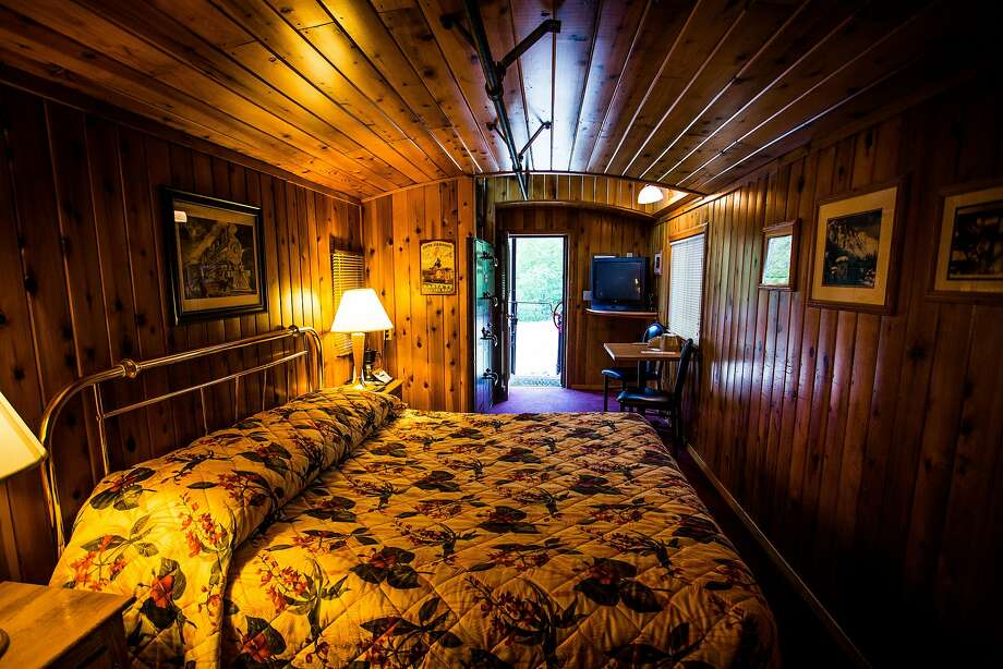 The old cabooses are furnished with beds, TVs and bathtubs. Photo: Max Whittaker/Prime, Special To The Chronicle