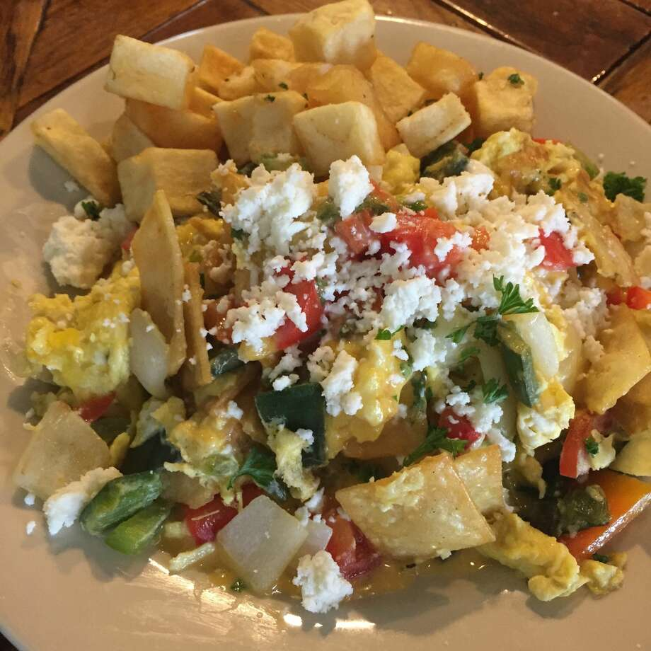 MigasCorn strips fried then mixed into eggs and pico de gallo.Cuisine: MexicanHouston twist: Mix in some brisket or steak. Photo: Courtesy