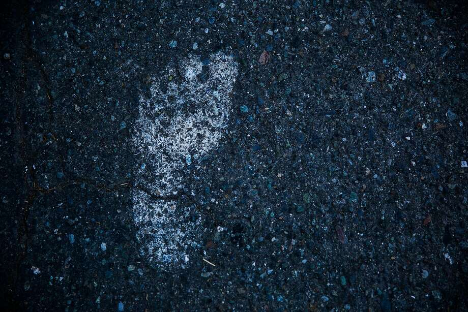 Signs of Bigfoot in Willow Creek include a print in a parking lot. Photo: Max Whittaker/Prime, Special To The Chronicle