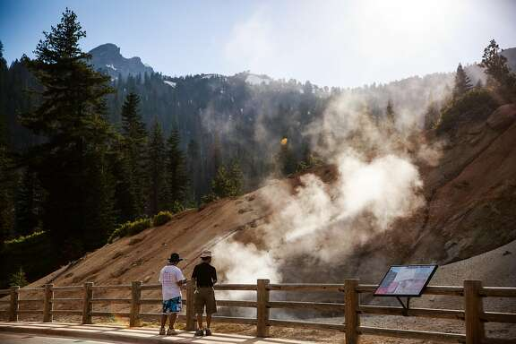 The roadside Sulphur Works in Lassen Volcanic National Park, California, July 1, 2016.