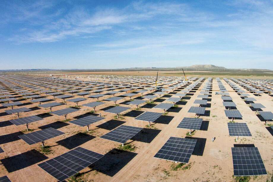 A West Texas solar farm is pictured in this file photo from July 2016.
