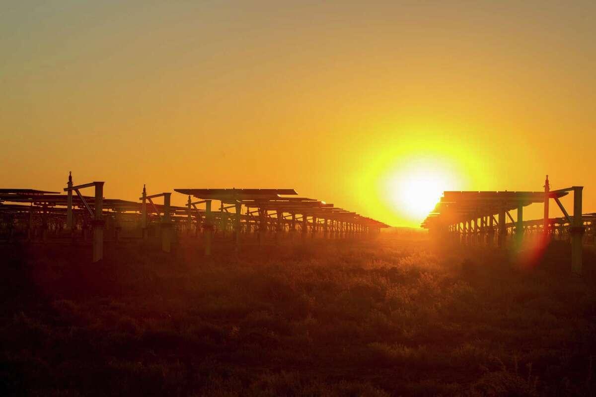 Solar farm in West Texas.
