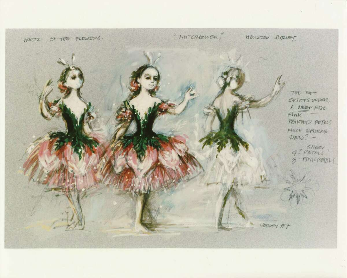 """Heeley created """"The Nutcracker"""" costume sketches that could rival Impressionist greats, Houston Ballet managing director emeritus C.C. Conner says."""