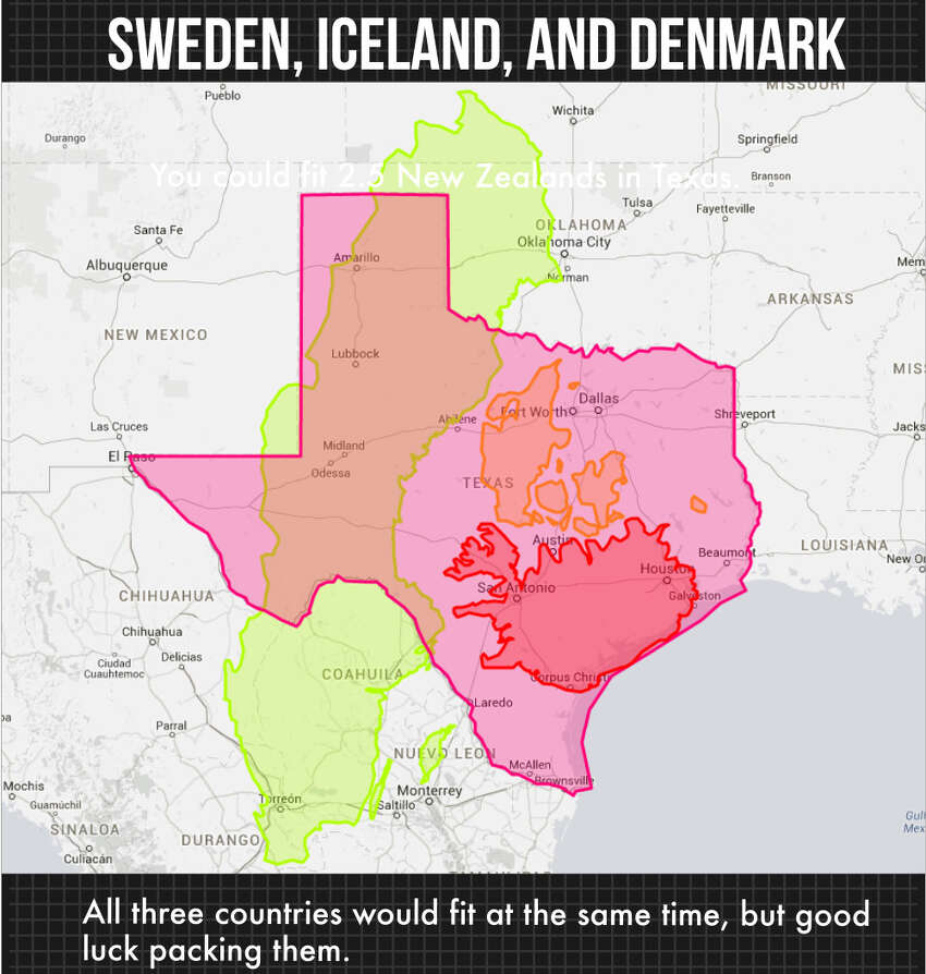 A blog posting asks the question: What countries could fit inside the state of Texas? Here are some of those countries.